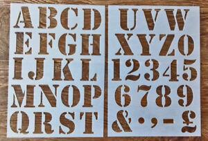 Numeros-letras-del-alfabeto-Plantilla-de-Plastico-Grande-50-mm-Altura-Vintage-Shabby-Chic