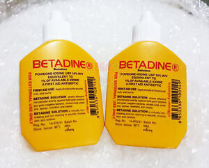 Details about 2 x 30 cc  BETADINE POVIDONE IODINE FIRST AID SOLUTION  ANTISEPTIC CUTS WOUNDS