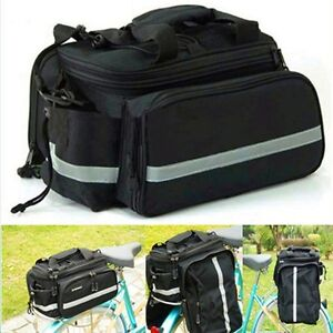 Cycling Bags Cycling Shoulder Bag Bike Panniers Bicycle Rear Pouch Black