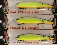 Bandit Walleye Shallow Diver lures Walleye Bass Pike lure 5//8 oz Lot of 3