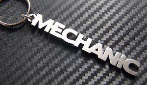 mecanico-Coche-Auto-Garaje-llavero-a-medida-Acero-Inoxidable-Regalo