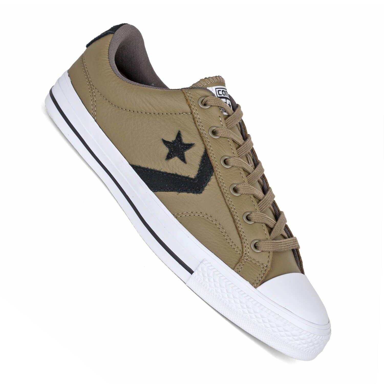 Converse Star Player Leder Ox grün im - Herren Sneaker im grün Retro Look a9f0ed