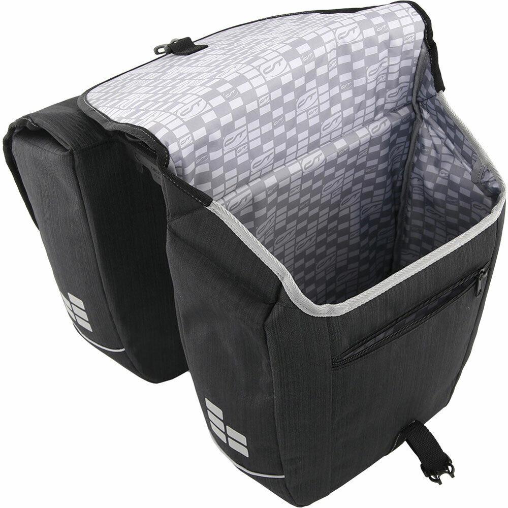 CONTEC confezione doppia borsa NEO. doppio LxPxA  32x13x33cm 2x 25 L NeroCoolgrigio
