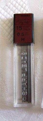2 x 15 Ecobra Super-polymer Druckbleistift Minen 0,5 H 60 mm Feinminen