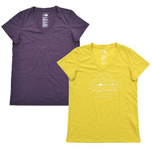 The-North-Face-Womens-T-shirt-V-neck-Graphic-Tee-Short-Sleeves-S-M-Xl-Casual-New