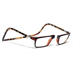 8c4f06a103b4 Image is loading Clic-Executive-Tortoise-Reader-Eyeglasses-Full-Rim-Magnetic -