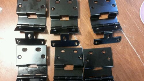 Lot of 6 New Black Cabinet Door Hinges Heavy Construction Commercial Kitchen !!!