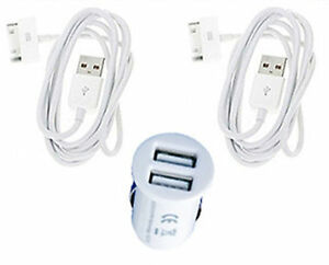 Dual-USB-Port-Car-Charger-Adapter-2-Cable-for-iPad-iPhone-3G-3GS-4G-4S