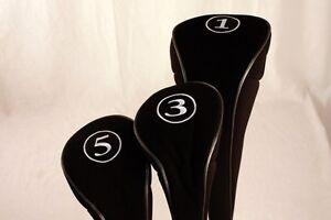 NEW-BLACK-LONG-DRIVER-3-5-FAIRWAY-WOOD-GOLF-CLUB-ZIPPER-HEADCOVER-SET-HEAD-COVER