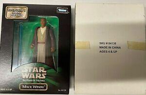 HASBRO Star Wars POTF2 SNEAK PREVIEW EPISODE 1 MACE WINDU MISB 1999
