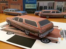 Papercraft Chrysler Town & Country PaperCar Brown EZU-MakeIt 74'-77' ToyModelCar