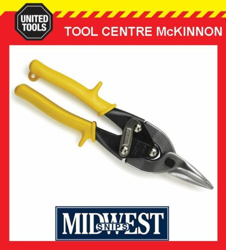 MADE IN USA MIDWEST STRAIGHT CUT AVIATION TIN SNIPS