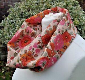 Cowl-snood-infinity-in-Liberty-Varuna-Wool-pink-cream-green-floral