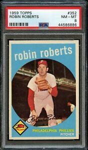 1959-Topps-BB-Card-352-Robin-Roberts-Philadelphia-Phillies-PSA-NM-MT-8