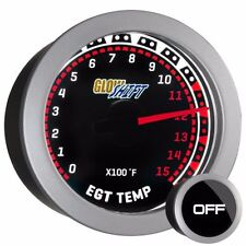 52mm GlowShift Tinted 1500°F Diesel Pyrometer EGT Gauge Kit w Type K Probe