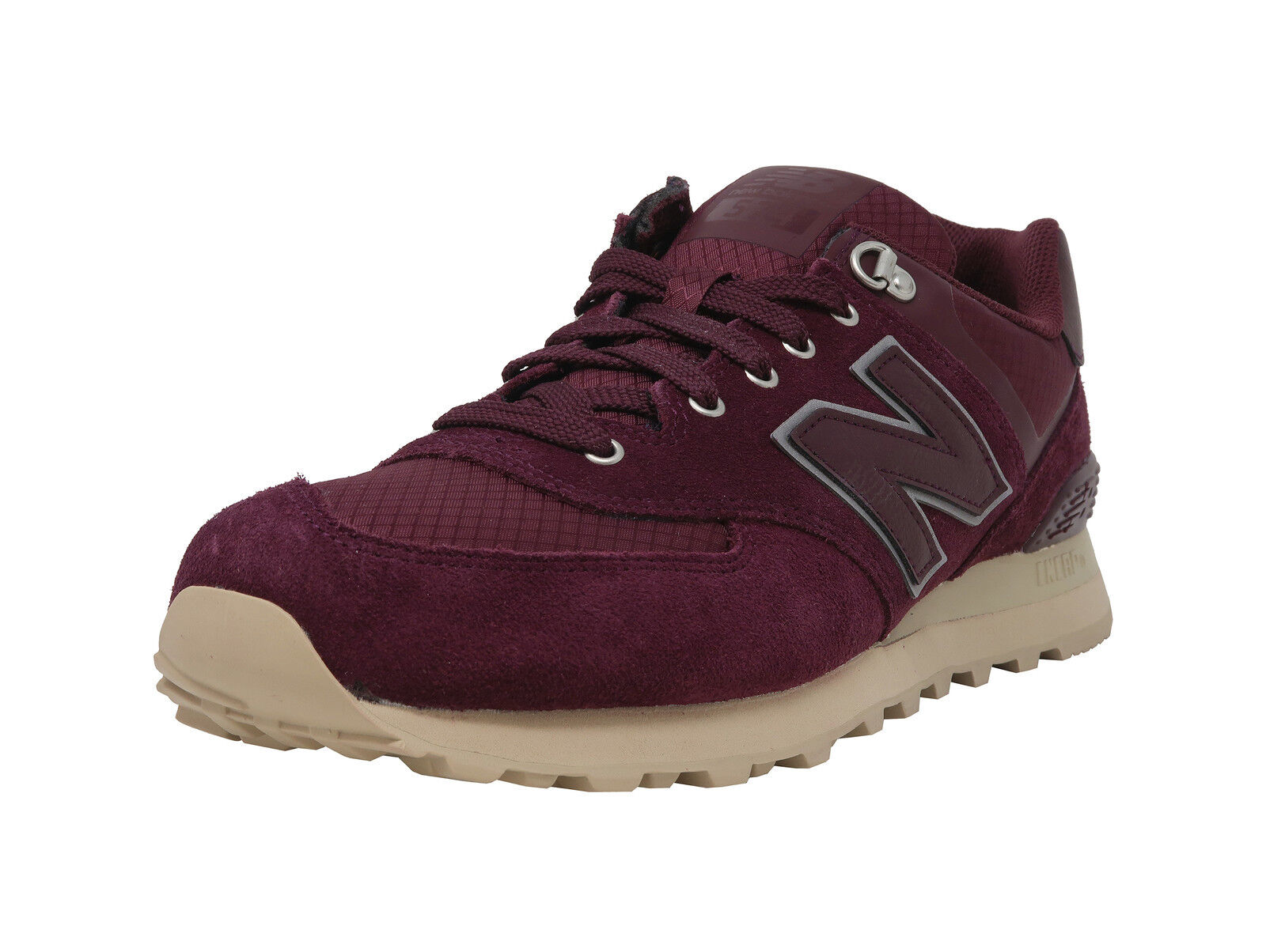 New Balance shoes Mens Athletic Burgundy Beige Outsole 574 Sneaker