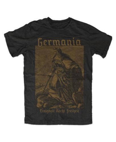 Dieu avec nous l/'Allemagne NEUVE noir déesse T shirt Germanie 2 la prusse Gloria