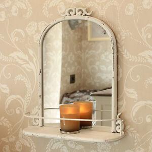 Crema Stile Antico Mensola Muro Specchio Camera da letto salotto ...