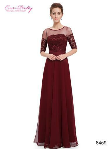 Mother of The Bride Dress Wedding Formal Gown Women Satin Lace Maxi MB8459 NEW