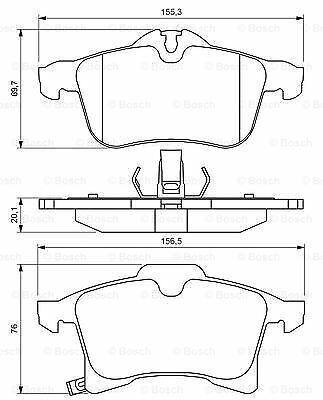 Mk2 BOSCH Pastiglie Dei Freni Set Anteriore adatto a Vauxhall Combo 1.3 CDTI #2 consegna veloce