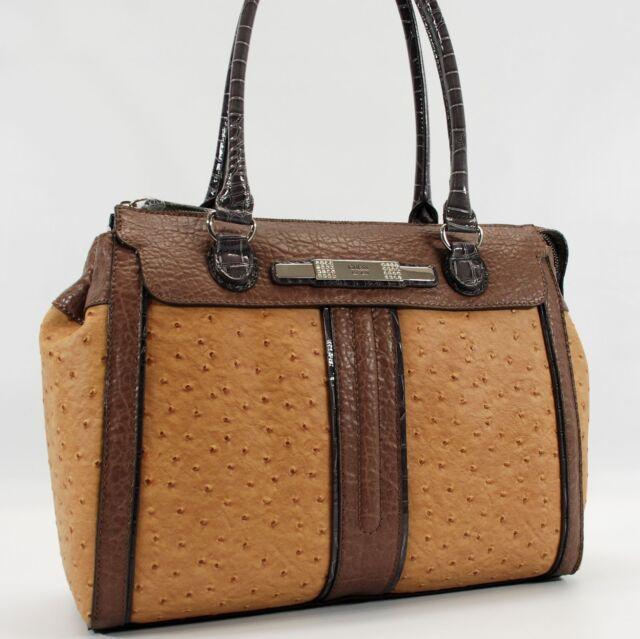 GUESS AUTHENTIC AGATHA COGNAC MULTI BAG HANDBAG TRAVEL TOTE PURSE NWT ccae6110159d