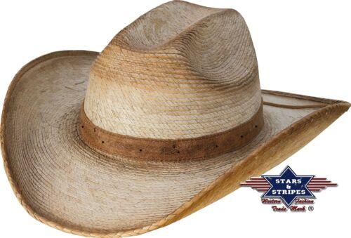 """Chapeau de paille Cerceau Country Western Chapeau de cowboy chapeau /""""Milo/"""" Nature Stars /& Bande"""