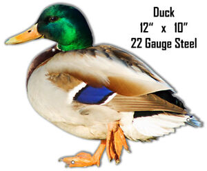Duck Animal Wall Art Laser Cut Out Metal Sign 10x12
