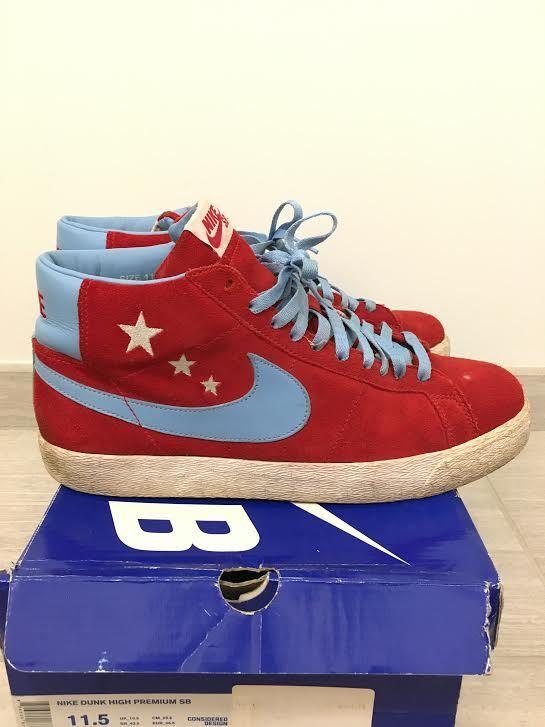Nike SB Blazer  Vanilla Ice  11.5 Varsity Red, blueee-Wave   314070-641 2007
