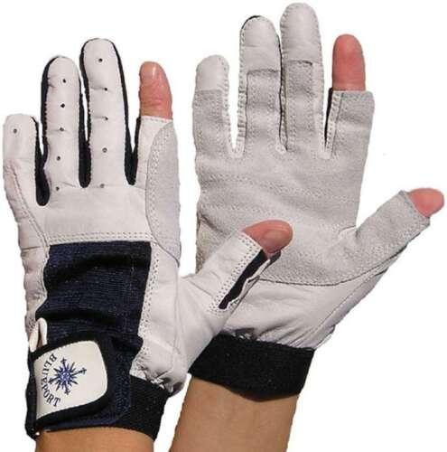2 Paar BluePort Segelhandschuhe Rindsleder Gr L Rigger Roadie Gloves Handschuhe Handschuhe