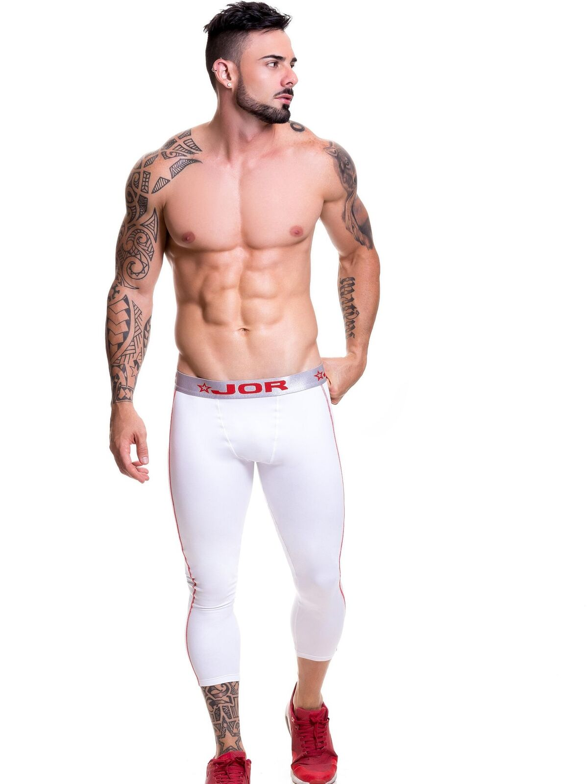 JOR Kompression Herren Gym Tight Tight Tight Leggings Hose Fitness Sporthose Base Layer Lauf 079470
