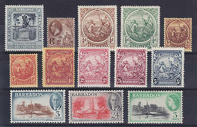 1907-53 Issues Barbados Sc 110/237 Mlh 13 Diff F-vf Available In Various Designs And Specifications For Your Selection