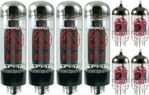 JJ-Tesla-Premium-Tube-Complement-Set-for-Laney-PT-1000-AOR-Guitar-Amp-Amplifier