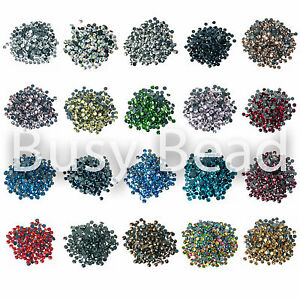 Busy-Bead-AA-Grade-Hot-Fix-Rhinestones-Iron-On-Hotfix-Flat-Back-Rhinestone-Gems