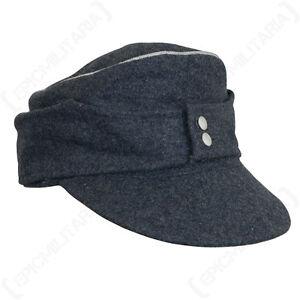 Panzer Officer Black M43 Ski Cap WW2 Reproduction All Sizes black Peak Hat New