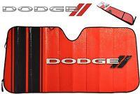 Dodge Elite Sun Shade Windshield Red/black Bubble Foldable Sun Protector