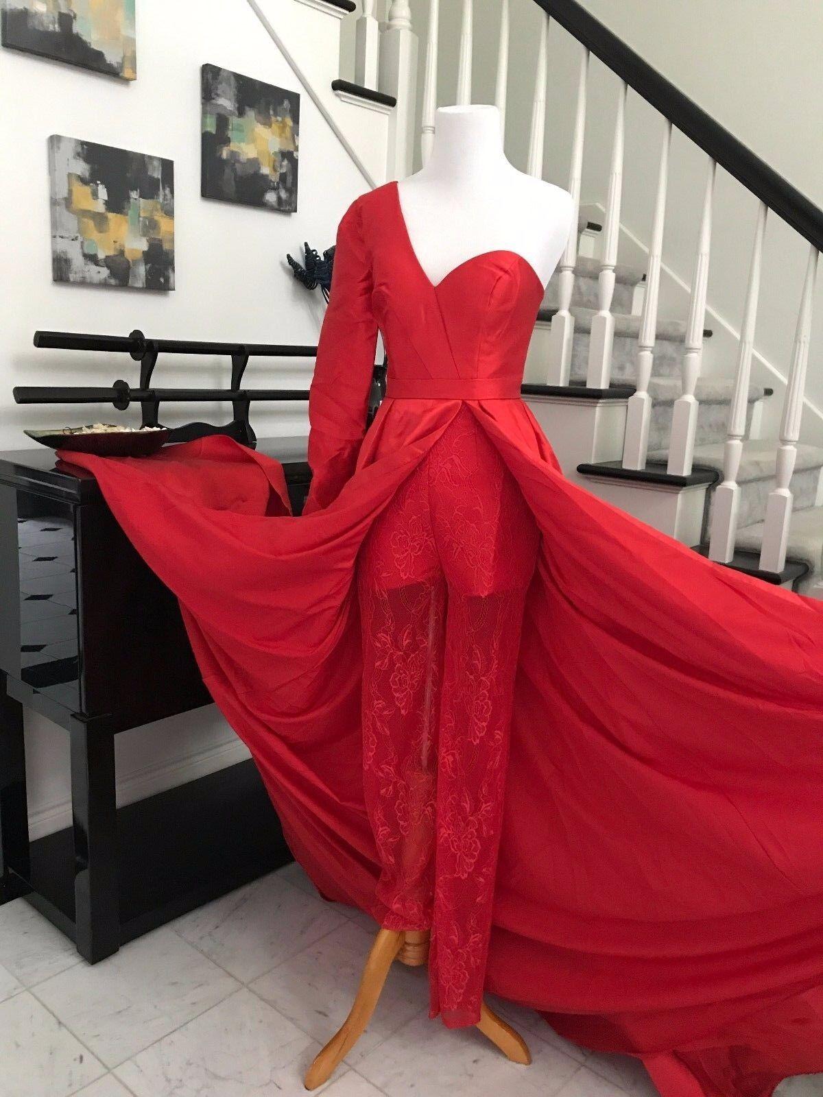 Fashion Brand New Lace Pants  Pageant Jumpsuit   Gown