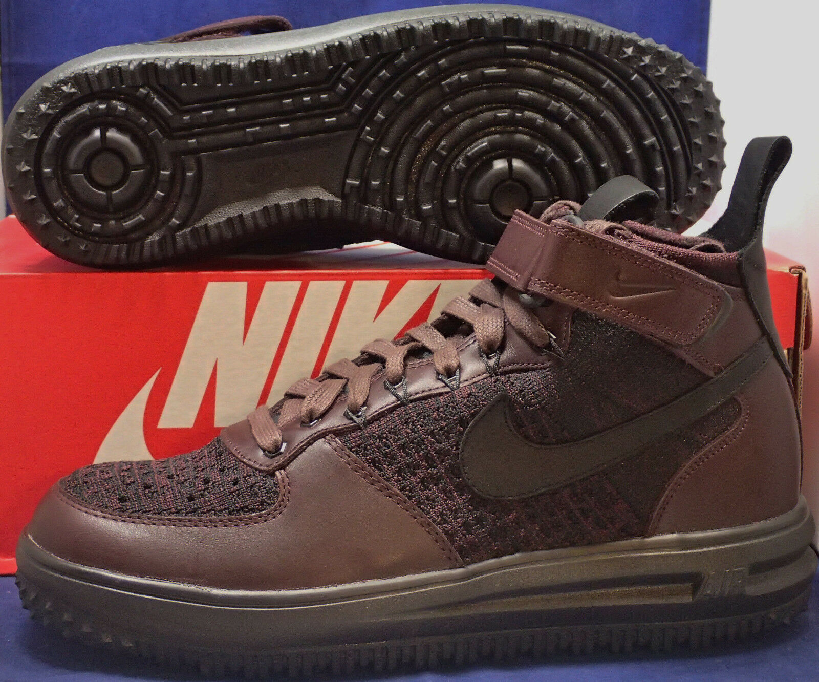 Nike Lunar Force 1 Flyknit Workboot Deep Burgundy Black Price reduction Seasonal clearance sale