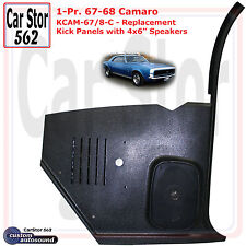"Custom Autosound KCAM-67/8-COM Kick Panels&4x6"" Speakers 67-68 Camaro HT/Conv"
