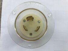hubbell//leviton 2625 30 amp 250vac   twist lock flanged plug