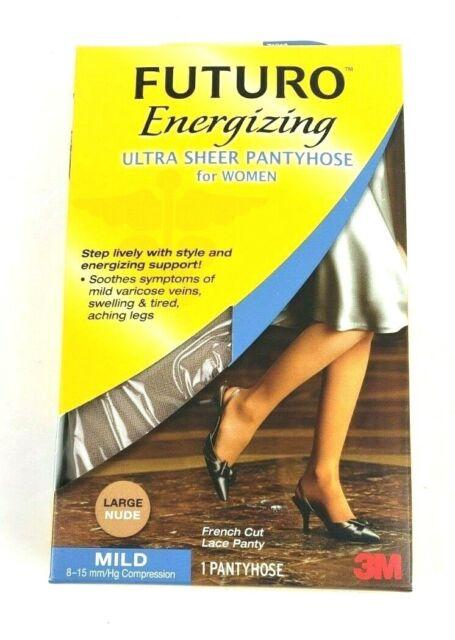 1 FUTURO Energizing Ultra Sheer Pantyhose Large Nude Mild