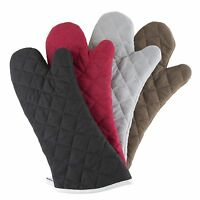 Oven Mitt One Pair Oversized Flame Heat Protection Big Mittens Pot Holders