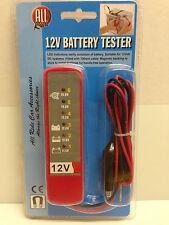 BATTERY ALTERNATOR TESTER 12V Volt Diagnostic Tool For Car Motorbike Van