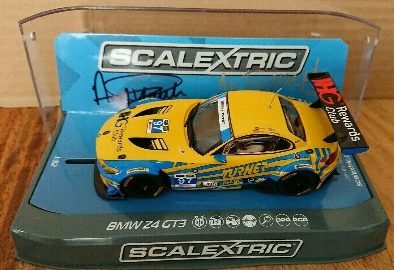 SCALEXTRIC C3720AE Autograph Series BMW Z4 GT3 2015 Signed by Andy Priaulx