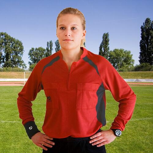 Schiedsrichter - Trikot,  Shirt für Referee , Farbe: rot/anthrazit, div. Größen