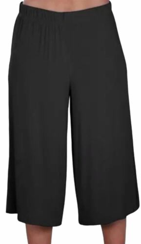 New Ladies Plus Size Printed Knee Length Palazzo Wide Leg Shorts Culottes 16-26