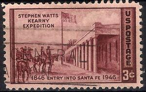 USA. 1946. 3 Cents. Entry into Santa Fe (Used)