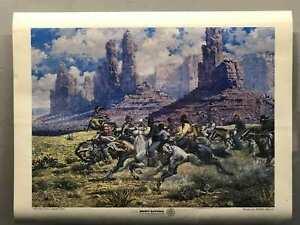 Vintage-Jimmie-Abeita-034-Pinon-Pickers-034-Art-Poster