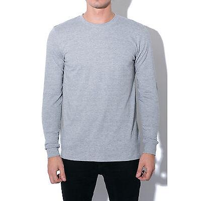 New AS COLOUR Mens Base Long-Sleeve Tee Grey Marle