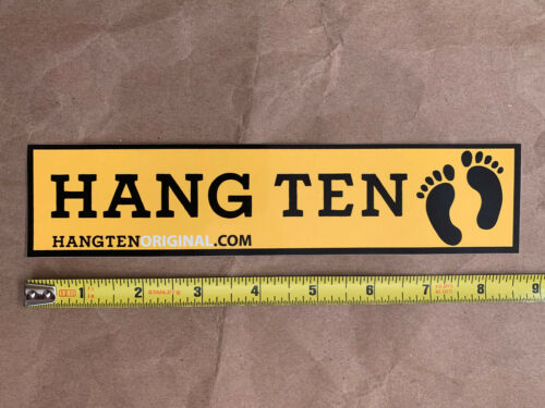 """8.5/"""" x 2/"""" Hang Ten surf sportswear sticker decal genuine original"""