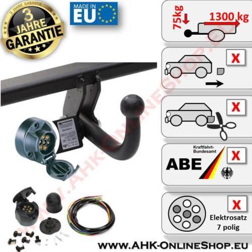 AHK e-Set di 7 poli NISSAN MICRA k12 ANNO 02.03-10 posteriore acciaio per gancio di traino